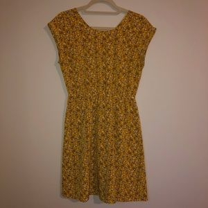 Old Navy Yellow Flower Patterned Dress Size Small